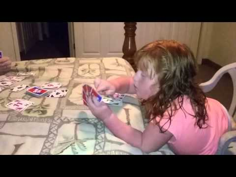 Gracie  playing skip bo