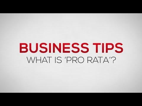 What is Pro Rata? | Business Tips