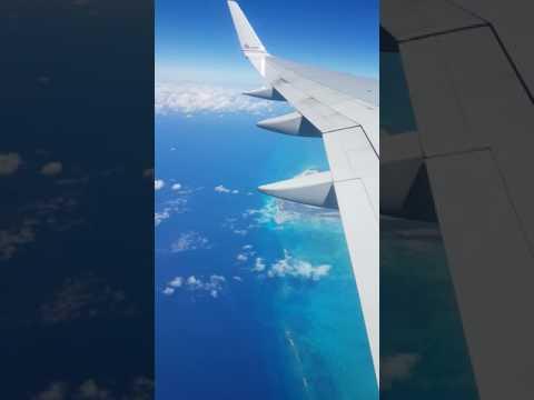 Flight From Miami To Punta Cana - Flying Over Bahamas