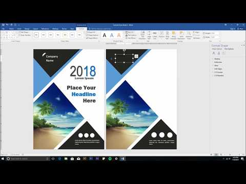 How To Design Book Cover Using Ms Word - #Part 2 Alternative Design