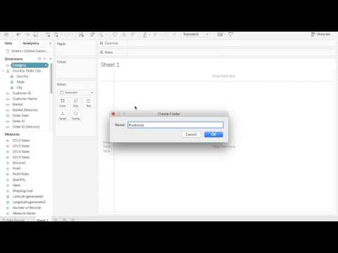 2 Minute Tableau Tip - Data Folders