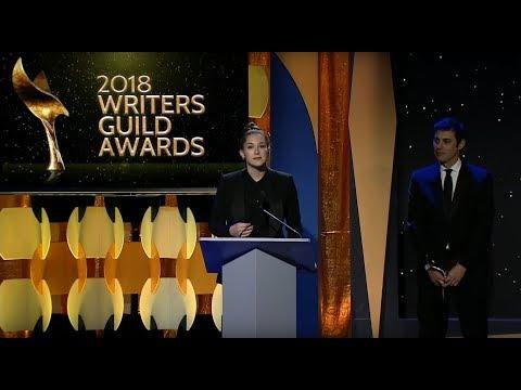 The Post writers Liz Hannah and Josh Singer receive the WGAW'S 2018 Paul Selvin Award