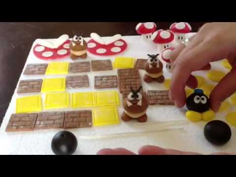 How to make gumpaste super Mario bros characters
