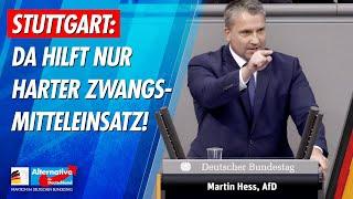 Stuttgart: Da hilft nur harter Zwangsmitteleinsatz! - Martin Hess - AfD-Fraktion im Bundestag