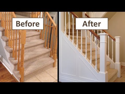 How to Make a Closed Stringer Staircase from an Open Stringer Staircase