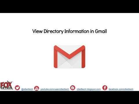 View Directory Info in Gmail