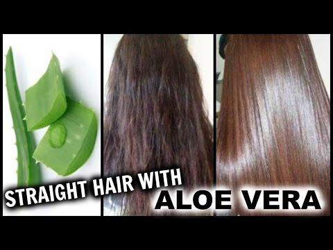 Straighten Hair with Aloe Vera │ Natural Hair Straightening Gel at Home w/ Results │Hair Hack!!