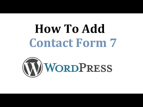 How To Add Contact Form 7 To Wordpress - Super Simple Tutorial
