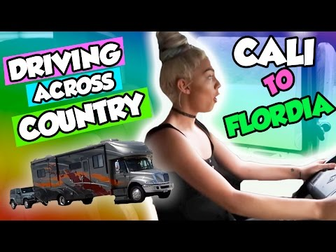 DRIVING ACROSS COUNTRY! MOVING FROM CALI TO FLORIDA!