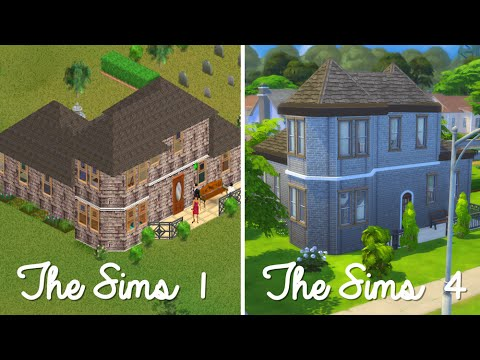 Sims 1 Goth House - Sims 4 Speed Build