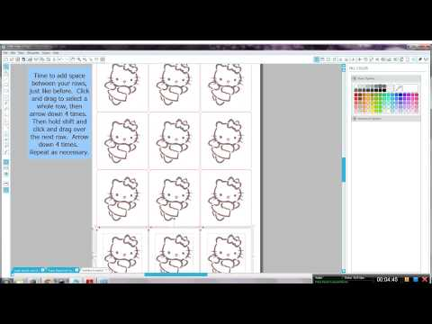 Creating glitter tattoo stencils with Silhouette Studio software