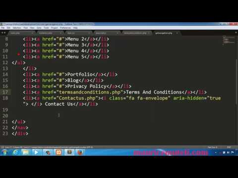 PHP Web Development   How To Make A Website Tutorial 25   Terms And Conditions Page