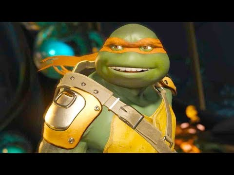 Injustice 2 PC - All Super Moves on TMNT Michelangelo Half-Shell Hero Costume 4K Ultra HD Gameplay