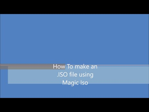 How to make an .iso image file using Magic iso software..