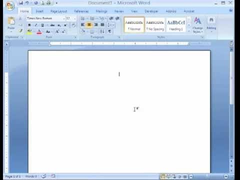 MS Word 2007 Tutorial in Hindi - Insert Header & Footer, Insert Page Numbers