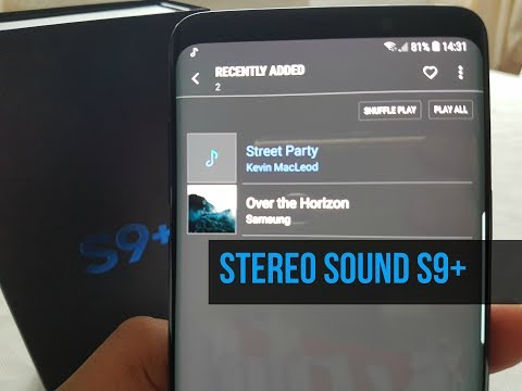Samsung Galaxy S9 Plus Stereo Speaker Sound Test