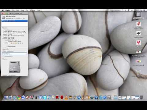 How to Change Your Hard Drive's Name in OSX Leopard/Snow Leopard