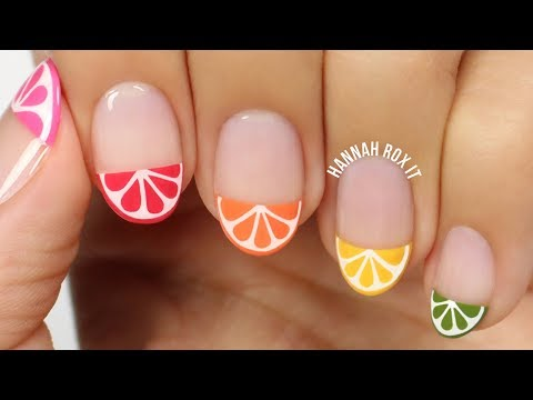 Citrus Slice Nail Art