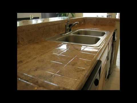 Ceramic tile kitchen countertops designs