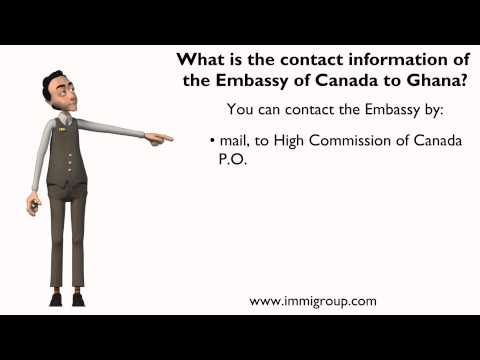 What is the contact information of the Embassy of Canada to Ghana?