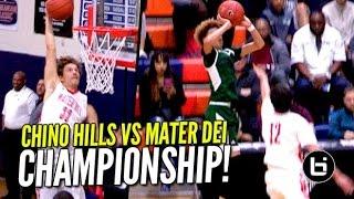 Chino Hills vs Mater Dei BATTLE For Championship! FULL Highlights of Tarkanian Classic Finals!