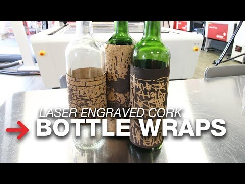 Cork Bottle Wraps | Wine Bottle Lables | Laser engraved cork