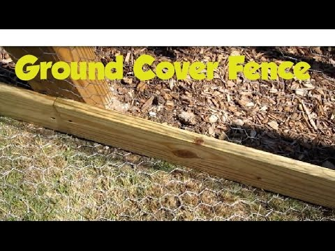 Installing ground cover for garden fence