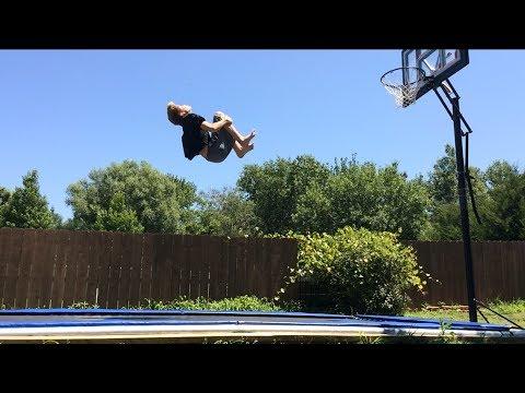Double backflip on trampoline tutorial (landed)