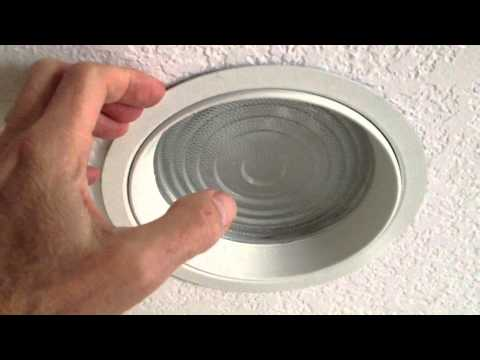 Changing Shower Light Bulb In Recessed Fixture With Lens
