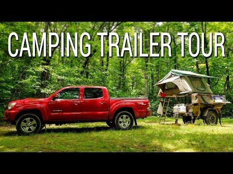Homemade camping trailer tour