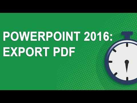 PowerPoint 2016: Export PDF (NO YOUTUBE ADS!)