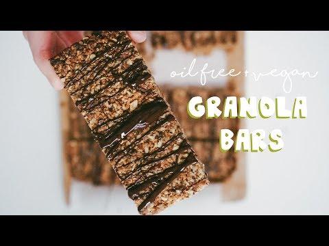 Easy Granola Bars//VEGAN + OIL-FREE