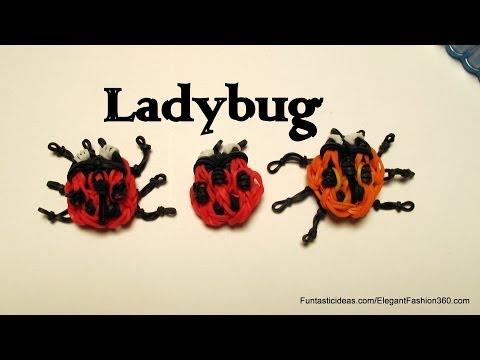Rainbow Loom ladybug emoji/Emoticon charm - How to