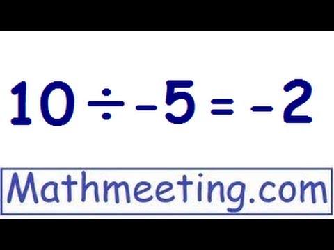 Dividing negative numbers