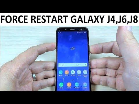 FORCE RESTART Samsung Galaxy J4, J6, J8 & Plus (2018)
