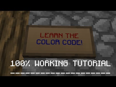 LEARN THE COLOR CODE! | Minecraft Tutorial Video!