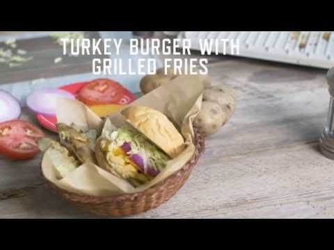 George Foreman Removable Plate Grill Recipes | How to Make Turkey Burgers with Grilled Fries