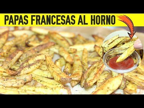 PAPAS FRANCESAS AL HORNO🍟   RECETA SUPER RICA