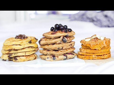 3 Healthy Pancake Recipes! Pancake Ideas For Breakfast!