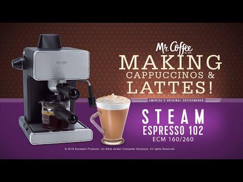 Mr. Coffee® Espresso Maker -  Making Capuccino & Latte
