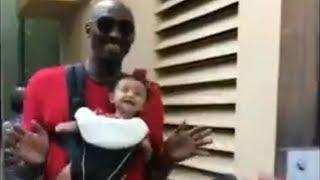 Kobe Bryant Dances with New Baby at Disneyland