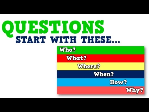 Questions Start with These (song for kids about questions vs. statements)