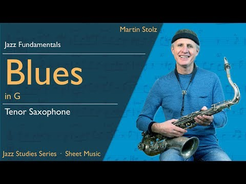 Play a jazzy Blues in concert F - with solo transcription for tenor saxophone