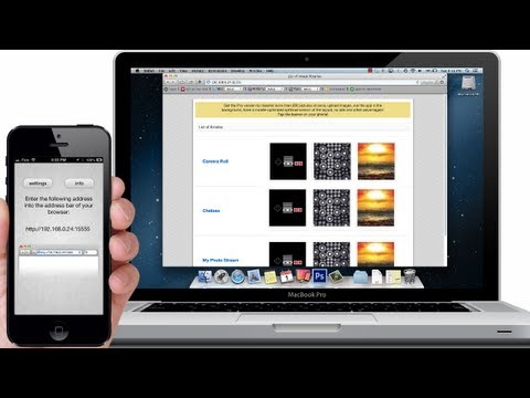 How to WIRELESSLY TRANSER PHOTOS & VIDEOS on iPhone, iPod, iPad from Computer