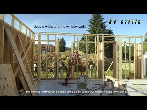 Passive house build More progression on the double walls garage walls and window and door wells