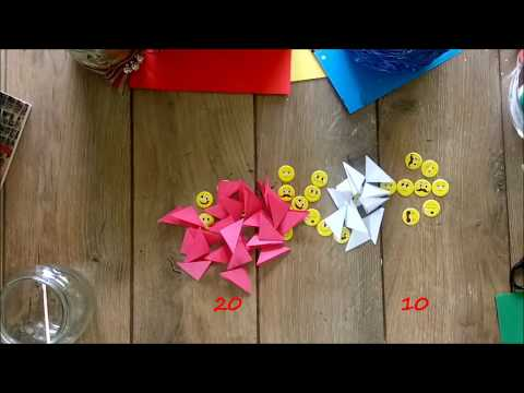 DIY How to make a garden decoration using wood and origami flowers tutorial