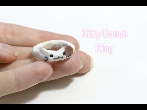 Tutorial: Kitty Donut Ring - Polymer Clay