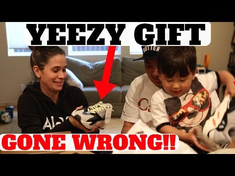WIFE'S REACTION To Surprise YEEZY BOOST 700 WAVE RUNNER Gift GONE WRONG!