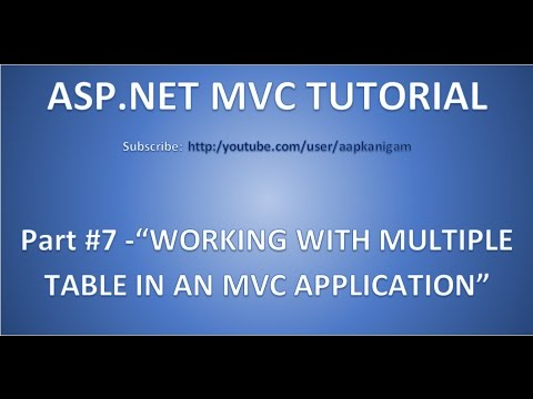 Part 7 - Working With Multiple Tables in ASP.NET MVC (Model-View-Controller)