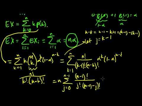 Expectation of a binomial random variable (method 2)